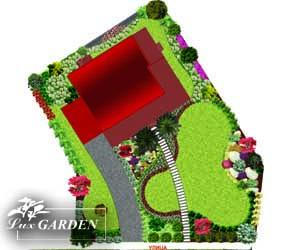 Проект за озеленяване и ландшафтен дизайн на градина в час