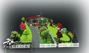 Визуализация на проект за озеленяване на зелена площ в частен двор