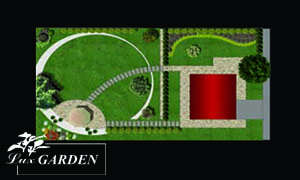 Проект за озеленяване на двор в Сапарева баня