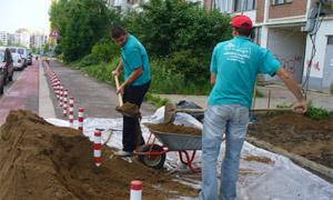 Доставка и насипване на хумусна почва